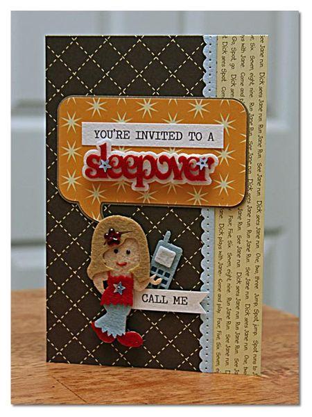 Sleepover-card