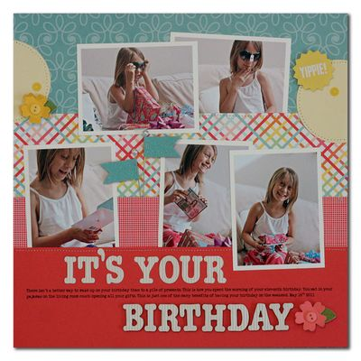 Pebbles-birthday-layout