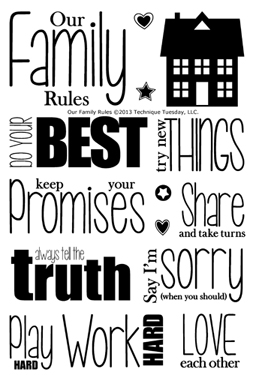 Technique-Tuesday-Our-Family-Rules-Clear-Stamps-Medium
